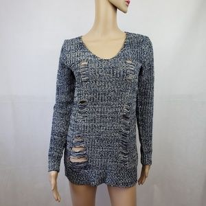 🟣2/$30🟣 Ashley by 26 International Blue Sweater